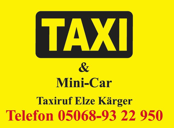 Logo: Taxi Elze Kärger